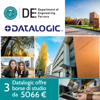 Borse di studio Datalogic per laureati triennali in atenei esterni alla Regione Emilia-Romagna.